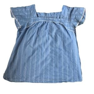(2for20) St. Johns Bay Blue Blouse with White Trim